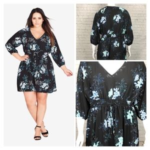 Size S/16 Left City Chic Tunic Dress GinzaFloral